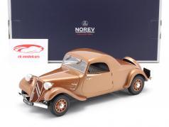 Citroen Traction Avant Coupe 11B Bouwjaar 1939 bruin metallic 1:18 Norev