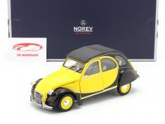 Citroen 2CV 6 Club 建设年份 1982 helios 黄色的 / 黑色的 1:18 Norev