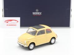 Fiat 500L Bouwjaar 1971 Tahiti geel 1:18 Norev