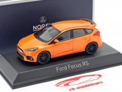 Ford Focus RS Ano de construção 2016 laranja metálico 1:43 Norev