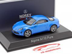 Renault Alpine A110 Pure Baujahr 2018 alpin blau 1:43 Norev