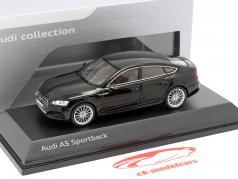 Audi A5 Sportback Opførselsår 2017 mythos sort 1:43 Spark