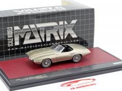 Ford XP Bordinat Cobra Concept Car 1965 argent métallique 1:43 Matrix