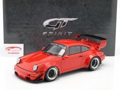 Porsche 911 (964) RWB Coupe Rauh-Welt 1990 vermelho 1:12 GT-Spirit