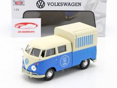 Volkswagen VW Typ 2 (T1) Pick-Up Food Truck bleu / blanc 1:24 MotorMax