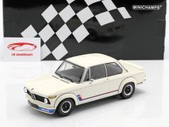 BMW 2002 Turbo (E20) Bouwjaar 1973 wit 1:18 Minichamps