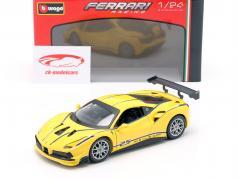 Ferrari 488 Challenge #25 yellow 1:24 Bburago