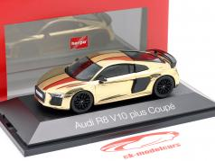 Audi R8 V10 plus Coupe or brillant 1:43 Herpa