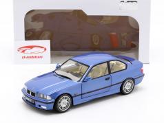 BMW M3 Coupe (E36) Bouwjaar 1990 estoril blauw 1:18 Solido