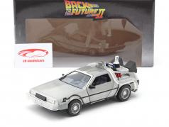 DeLorean Time Machine Flying Wheel Version Back to the Future II (1989) zilver 1:24 Jada Toys