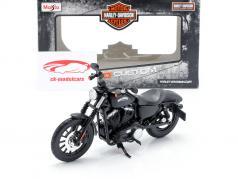 Harley Davidson Sportster Iron 883 建设年份 2014 黑色的 1:12 Maisto