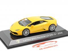 Lamborghini Huracan LP610-4 Año de construcción 2014 amarillo metálico 1:43 Altaya