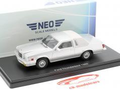 Ford Thunderbird Ano de construção 1980 prateado 1:43 Neo