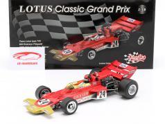 E. Fittipaldi Lotus Typ 72C #24 Gagnant USA GP Formule 1 1970 1:18 Quartzo