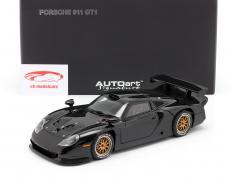Porsche 911 GT1 Plain Body Version Jaar 1997 zwarte 1:18 Autoart
