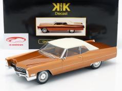 Cadillac DeVille met Softtop Bouwjaar 1967 goudbruin metallic 1:18 KK-Scale