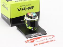 Valentino Rossi MotoGP Misano 2013 AGV Helm 1:10 Minichamps