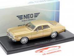 Plymouth Fury Baujahr 1977 gold 1:43 Neo