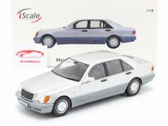 Mercedes-Benz S500 (W140) Année de construction 1994-98 brillant argent / gris 1:18 iScale