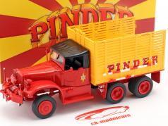 Diamond T968A Pinder Cirque #36 Paille Camion jaune / rouge 1:43 Direkt Collections