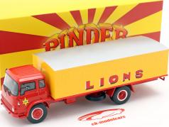 Bedford Pinder Cirque #44 Chats sauvages Transporteur jaune / rouge 1:43 Direkt Collections
