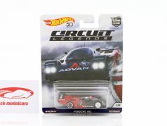 Porsche 962 #25 rouge / noir 1:64 HotWheels