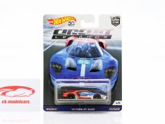 Ford GT Race #66 2016 azul / vermelho / branco 1:64 HotWheels