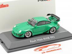 Porsche 911 (993) RWB Rauh-Welt grøn 1:43 Schuco