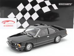 BMW 635 CSi (E24) Byggeår 1982 sort metallisk 1:18 Minichamps