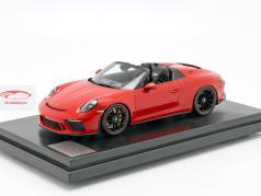 Porsche 911 (991 II) Speedster Baujahr 2019 indischrot mit Vitrine 1:12 Spark