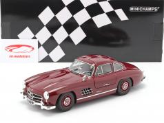 Mercedes-Benz 300 SL (W198) Gullwing year 1955 dark red 1:18 Minichamps