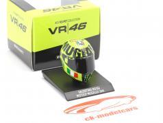 Valentino Rossi MotoGP Mugello 2016 AGV Helm 1:10 Minichamps