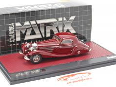 Mercedes-Benz 540K Special Coupe (W29) year 1936 dark red 1:43 Matrix