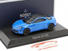 Alpine A110S Año de construcción 2019 alpino azul 1:43 Norev