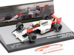 A. Senna McLaren MP4/5 #1 Vincitore Germania GP F1 1989 1:43 Altaya
