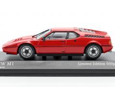 BMW M1 (E26) 建设年份 1980 指甲花 红色的 1:43 Minichamps