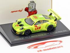 Porsche 911 GT3 R #911 FIA GT World Cup Macau 2018 Laurens Vanthoor 1:64 Spark