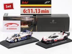 2-Car Set Porsche 919 Hybrid & Porsche 956K Tour record Nürburgring 2018 / 1983 1:43 Spark, CMR