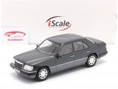 Mercedes-Benz E班 (W124) 建设年份 1989 蓝黑色 金属的 1:18 iScale