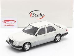 Mercedes-Benz E klasse (W124) Bouwjaar 1989 arctisch wit 1:18 iScale