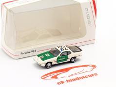 Porsche 924 Polícia verde / branco 1:87 Schuco