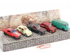 5 autos Set Vintage Rusty Set de regalo 1:64 Majorette