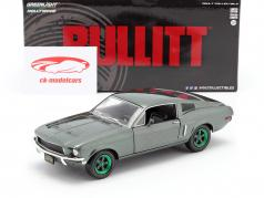 Ford Mustang GT Ano de construção 1968 Filme Bullitt (1968) verde jantes 1:24 Greenlight