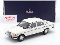 Mercedes-Benz 200 (W123) sedan Byggeår 1982 hvid 1:18 Norev