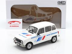 Renault 4L GTL Air France ano 1978 branco / azul 1:18 Solido