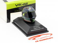 Valentino Rossi Winter Test Sepang MotoGP 2018 AGV Helm 1:8 Minichamps