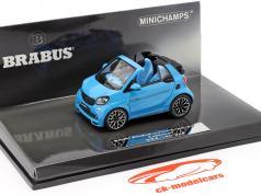 Smart Brabus Ultimate 125 Descapotable Año de construcción 2017 azul 1:43 Minichamps