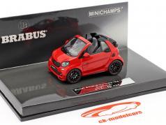 Smart Brabus Ultimate 125 Cabriolet Baujahr 2017 rot 1:43 Minichamps