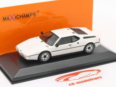 BMW M1 Bouwjaar 1980 wit 1:43 Minichamps