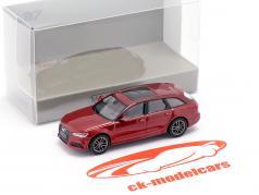 Audi A6 Avant Año de construcción 2018 rojo metálico 1:87 Minichamps